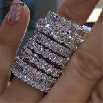 choucong <b>Handmade</b> Finger ring 925 sterling Silver AAAAA Zircon Sona cz Engagement Wedding Band Rings For Women men <b>Jewelry</b>