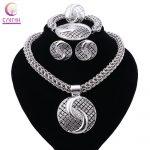 New Exquisite Dubai <b>Jewelry</b> Set Luxury Silver Plated Big Nigerian Wedding African Beads <b>Jewelry</b> Set Costume New Design