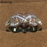 choucong <b>Handmade</b> Heart Love Party Wedding Band ring 5A zircon Cz Rose White gold filled Rings For Women men <b>Jewelry</b>