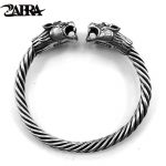 ZABRA Solid 925 <b>Sterling</b> <b>Silver</b> 2 Tigers 6mm Screw Open Cuff Bracelet Men Viking Bangle Vintage Punk Rock Thai <b>Silver</b> <b>Jewelry</b>