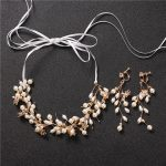 Pearl Headband And Necklace Dual-use Bridal <b>Wedding</b> Hair Accessories with Earring Set <b>Jewelry</b> Women Ornament Pearl Headpiece