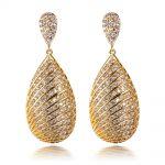 ANGEL Women Luxury Silver Pin <b>Wedding</b> Earrings Top Graded Cubic Zirconia Earring Lead Free Bridal <b>Jewelry</b>