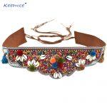 Gypsy Hippie Boho Turkish Bohemian Shimmy <b>Fashion</b> Style Belt Dance Body Chain Ethnic Sash Belt Dresse Retro Black Leather Belts
