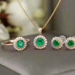 LANZYO 925 sterling <b>silver</b> Emerald Pendants gift for women jewelry emerald Wedding Fine Jewelry Classic style tz3.53.5011agml