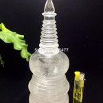 1610g Natural white crystal sarira tower Buddhist <b>supplies</b> 223*90mm