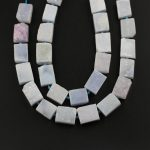 Approx 16PCS Strand,Natural Blue Chalcedony Rectangle Shape Beads,Drilled Polished Slabs RAW Agates <b>Jewelry</b> <b>Supplies</b>