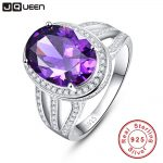10.2ct Natural Amethyst Fire Mystic Topaz Solid 925 Sterling <b>Silver</b> Ring Cocktail Vintage <b>Jewelry</b> Promotion Brand 2016 New
