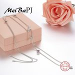 [MeiBaPJ]S925 Pure <b>Sterling</b> <b>Silver</b> Pendant Necklace With High Quality AAA Zircon Eye Pendant Necklace For women Fine <b>Jewelry</b>