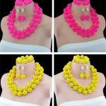 Fabulous <b>Handmade</b> Crystal Beads Nigerian Wedding <b>Jewelry</b> Set Dubai Gold-color <b>Jewelry</b> Set Free Shipping