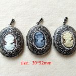 3 pcs oval-shaped Alloy Pendant,with pave rhinestone crystal ,<b>Image</b> charm Pendant for DIY <b>jewelry</b> necklace making P215