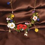 New Luxe Flourishing Flowers Necklace For Women Luxury Elegant Noble Lady Party Prom <b>Wedding</b> <b>Jewelry</b> Accessories