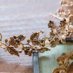 Jonnafe Vintage Gold Leaf Bridal Tiara Baroque Wedding Hair Crown Accessories Pearl Women Hair <b>Jewelry</b> Tiaras