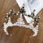 <b>Handmade</b> Beads Vintage Bridal Tiara Crown Bride Headpiece Women Party Diadem Head Decorations Wedding Hair <b>Jewelry</b> Accessories