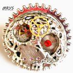 steampunk gothic skeleton skull ring one stainless steel adjustable ring watch parts men women boy girl <b>antique</b> vintage <b>jewelry</b>