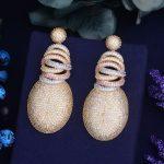 GODKI 63mm x 27mm <b>Fashion</b> AAA Cubic Zirconia Brilliant Elegand Flower Earrings for Women Earring <b>Fashion</b> <b>Jewelry</b>