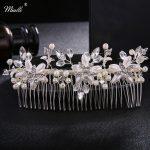 Miallo Ivory White Pearls Long Hair Combs <b>Fashion</b> Rhinestone Hairpins Wedding Bride Hair <b>Jewelry</b> Accessories for Women Tiaras