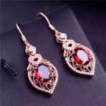 KJJEAXCMY boutique jewels 925 pure <b>silver</b> inlaid with natural garnet female pendant ring <b>earrings</b> 3 pieces of gold and <b>silver</b> co