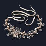 Fashion Luxurious Crystal Vine Bridal Tiara Headbands <b>Handmade</b> Top Wedding Bride Hair <b>Jewelry</b> Accessories Prom Hair Ornaments