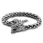 Retro fashion male Thai <b>silver</b> <b>bracelet</b> 925 Sterling <b>silver</b> 8 mm20cm wide <b>bracelet</b> real solid <b>silver</b> dragon <b>bracelet</b> man jewelry