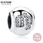 ELESHE 925 Sterling Silver Crystal Virgo Sign Zodiac Beads Charms Fit Original ELESHE Bracelet Neclace Authentic <b>Jewelry</b> <b>Making</b>