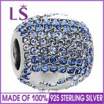 LS 925 Silver Charm Full Crystal Pendant Beads Fit Original Bracelet Authentic <b>Jewelry</b> <b>Making</b> berloque Fashion <b>Jewelry</b>