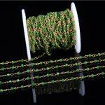Olive Green Malaysian Ja de Plating Brass Copper Chains Findings,Faceted Ja de Rondelle Beaded Chain <b>Supplies</b> Bulk Sale 3x4mm