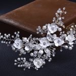Luxury flower Bridal hair accessories <b>handmade</b> <b>jewelry</b> headpiece bridal wedding hair clips crystal hair combs