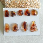 Semiprecious stone <b>jewelry</b> necklace,9pcs Fire Agate Gemstone pendant Cabochon,37x21x8mm,17x14x6mm,27.4g