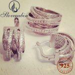 Slovecabin 2017 Top Brand <b>Silver</b> <b>Jewelry</b> Set Europe Popular 100% 925 <b>Sterling</b> <b>Silver</b> Ring And Earring <b>Jewelry</b> Set For Women