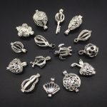 15pcs Mixed Style Silver Plated Trendy <b>Jewelry</b> <b>Making</b> Supplies Pearl Beads Cage Locket Pendant Essential Oil Diffuser Fun Gifts