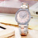 Shengke Luxury Quartz Watch Women Crystal Ladies <b>Bracelet</b> Watches Relogio Feminino 2018 SK Women <b>Silver</b> Wrist Watch