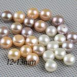 half drilled pearl pairls,12-13mm large pearl beads,big size freshwater pearl pair,white,pink,purple,<b>jewelry</b> material <b>supply</b>