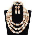 White Coral Beads <b>Necklace</b> Designs Nigerian Wedding African Beads <b>Jewelry</b> Set Original Coral Statement Jewellery Set CNR171