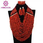 Nigerian Wedding African Coral Beads <b>Jewelry</b> Set Red Coral Beads <b>Necklace</b> Set Genuine Coral Beads <b>Jewelry</b> Free Shipping CNR326
