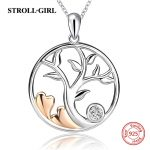 Genuine 925 sterling silver tree of life chain pendant&necklace with CZ stone diy fashion <b>jewelry</b> <b>making</b> for women gifts
