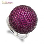 Yunkingdom luxury brand spherical big rings for women clear zircons <b>jewelry</b> big rings with Italian woman favorite