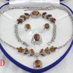 Prett Lovely Women's Wedding Beautiful woman in the fashion <b>jewelry</b> set necklace bracelet earrings ring + box 5.23