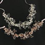 Gorgeous Rose Gold Crystal Rhinestone Pearls Floral Wedding Hair accessories Hairband Bridal Headband Bridesmaids <b>Jewelry</b> Women