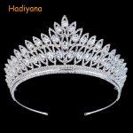 Hadiyana Fashion Sparkly Zirconia <b>Wedding</b> Crown New Crystal Eye Shape Bridal Tiaras Crown Hair Accessories <b>Jewelry</b> Sliver BC3103