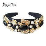 2017 New Arrival Baroque Headband Hairband Colorful Flowers hand made D.G Hair <b>Jewelry</b> Hairwear for Women