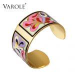VAROLE Top Quality 100% Copper Opening Color Enamel Bangle Love Bracelets & Bangles Pulseiras Women <b>Fashion</b> <b>Jewelry</b> pulsera