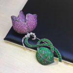 925 <b>sterling</b> <b>silver</b> with cubic zircon flower brooch pins fashion women <b>jewelry</b> free shipping high quality tulip brooch pins