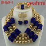Luxury African <b>Jewelry</b> Set Red Gold Balls Dubai <b>Jewelry</b> Sets 2018 3 Layers <b>Handmade</b> Bridal <b>Jewelry</b> Set For Wedding Women BH69-2