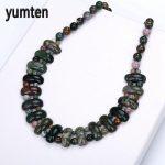 Yumten Epidote Necklace Women Man Crystal Fashion Beads Beautiful <b>Handmade</b> Romantic <b>Jewelry</b> Valentine's Day Gift Pendentif Femme