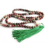 Tibetan <b>handmade</b> <b>jewelry</b> Tibet Buddhist 108 Red Green 8m mJade Prayer Beads Mala Necklace silver