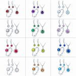 Hutang Natural Multi Birthstone Solid 925 Sterling <b>Silver</b> Ring Pendant <b>Earrings</b> Gemstone Jewelry Sets presents Gift For Women