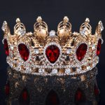 Big Water Drop Colorful Crystal Baroque Crown Red Gold Tiaras and Crowns for Bridal <b>Wedding</b> Hair <b>Jewelry</b> ishow hair sieraden