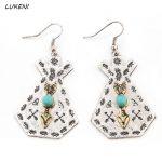1Pair hot sale Gypsy Arrow Earrings Hippie Boho Earrings Ethnic Tribal Chandelier Earrings Indian <b>Native</b> <b>American</b> <b>Jewelry</b>