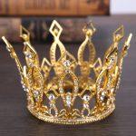 Vintage Gold Alloy Clear Crystal Tiara Crown Headband Rhinestones Wedding Party Hair Accessories For Bridal Hair <b>Jewelry</b>
