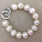 Large Pearl Bracelet,10-14mm Pearl <b>Wedding</b> <b>Jewelry</b>,Birthday ,Love,Mothers Day, Happiness,Big Pearl Bracelet.